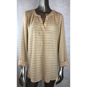 Caslon 100% Polyester Sheer Print Top size Large